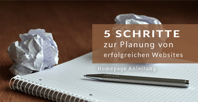 Checkliste zur Website Planung