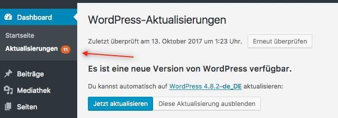 WordPress aktualisieren
