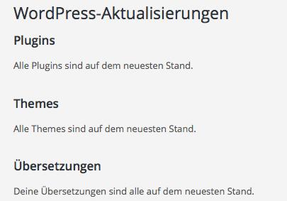 wordpress-aktualisierungen