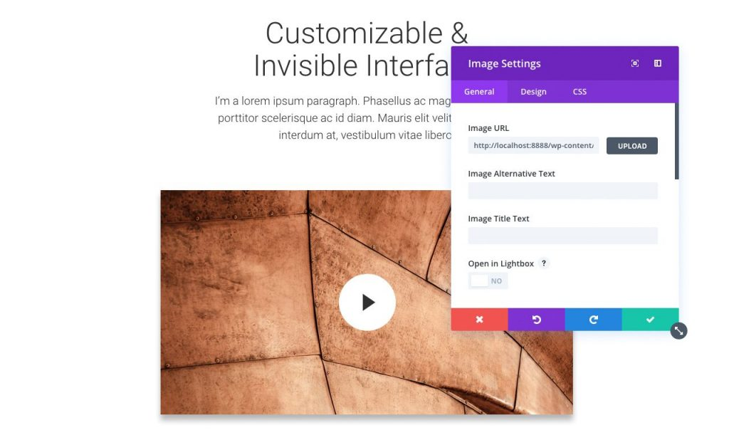Das flexible Interface von Divi 3.0