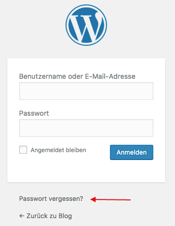 Der WordPress Login Bereich