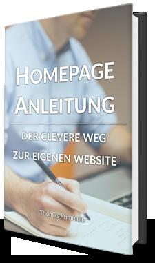 Homepage Anleitung E-Book
