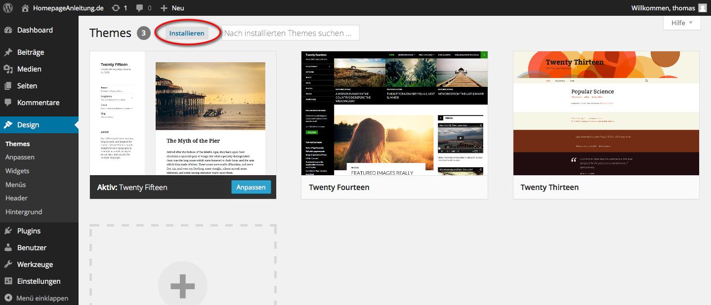 Die Besten Wordpress Themes Finden Homepage Anleitung