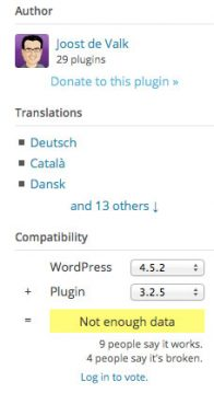 Wordpress Plugin Informationen