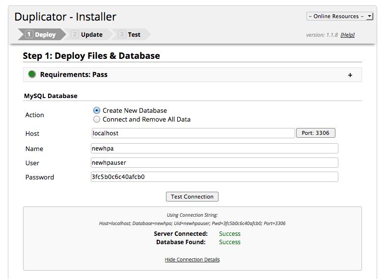 Wordpress umziehen - Backup auf anderen Serverinstallieren