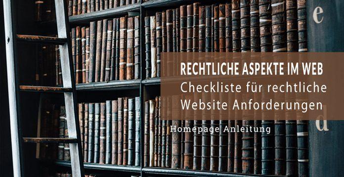 Rechtliche Website Anforderungen