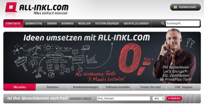 Meine Webhosting Empfehlung - Der Anbieter All-Inkl